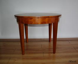 T17 Stół Biedermeier fi100cm + 3x65 cm (295cm)