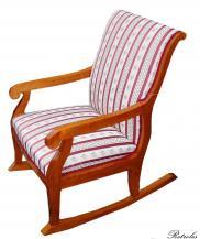 F36 Fotel bujany w stylu Biedermeier